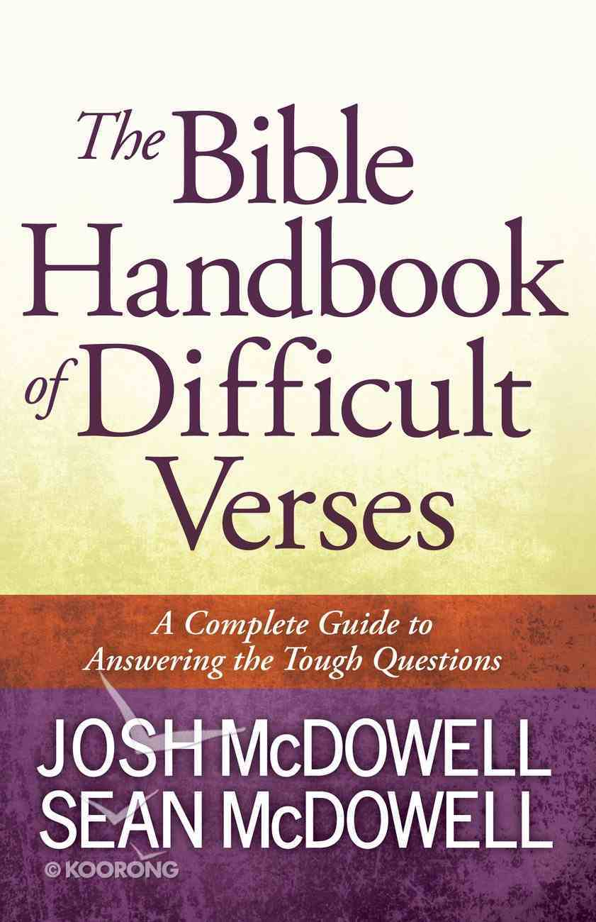 The Bible Handbook of Difficult Verses eBook