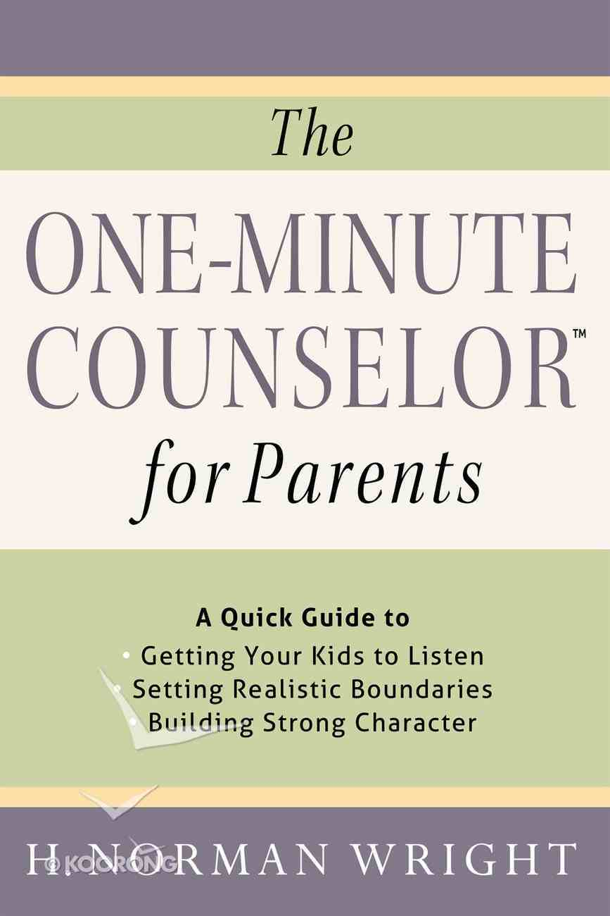 The One-Minute Counselor? For Parents eBook
