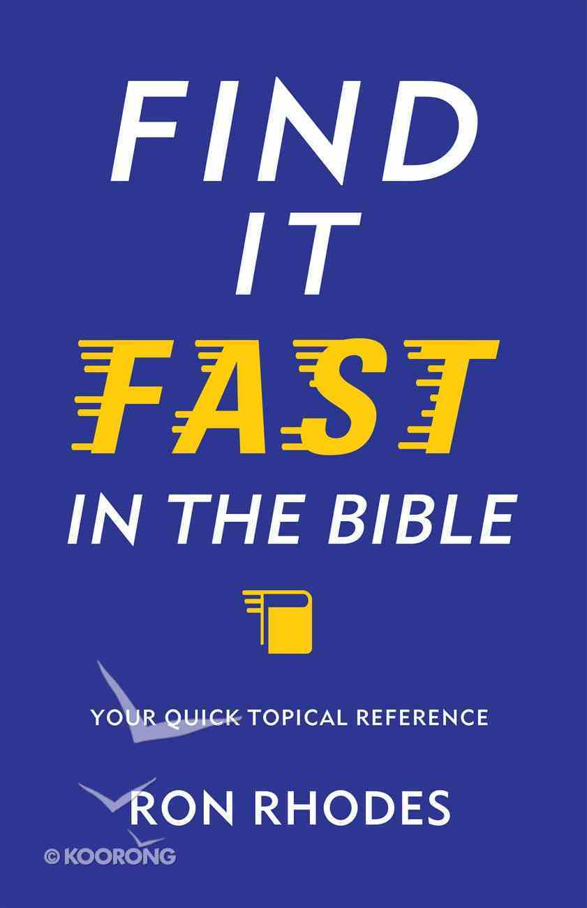 Find It Fast in the Bible eBook