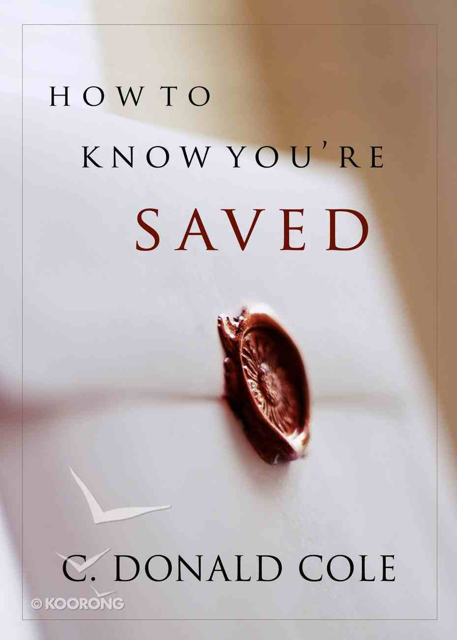 How to Know You're Saved eBook