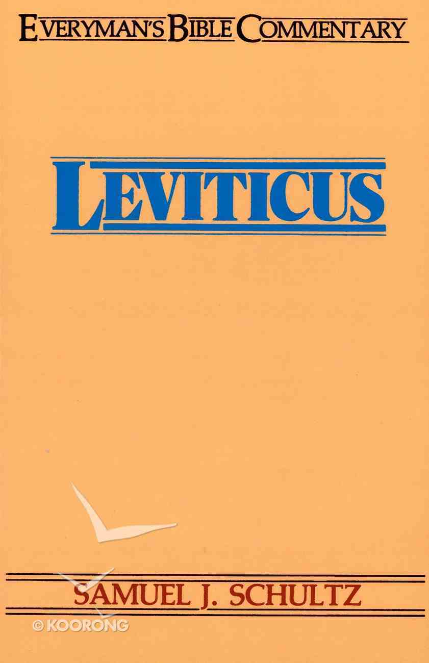 Leviticus (Everyman's Bible Commentary Series) eBook