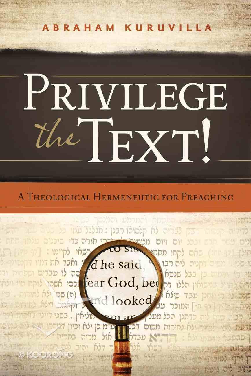 Privilege the Text! eBook