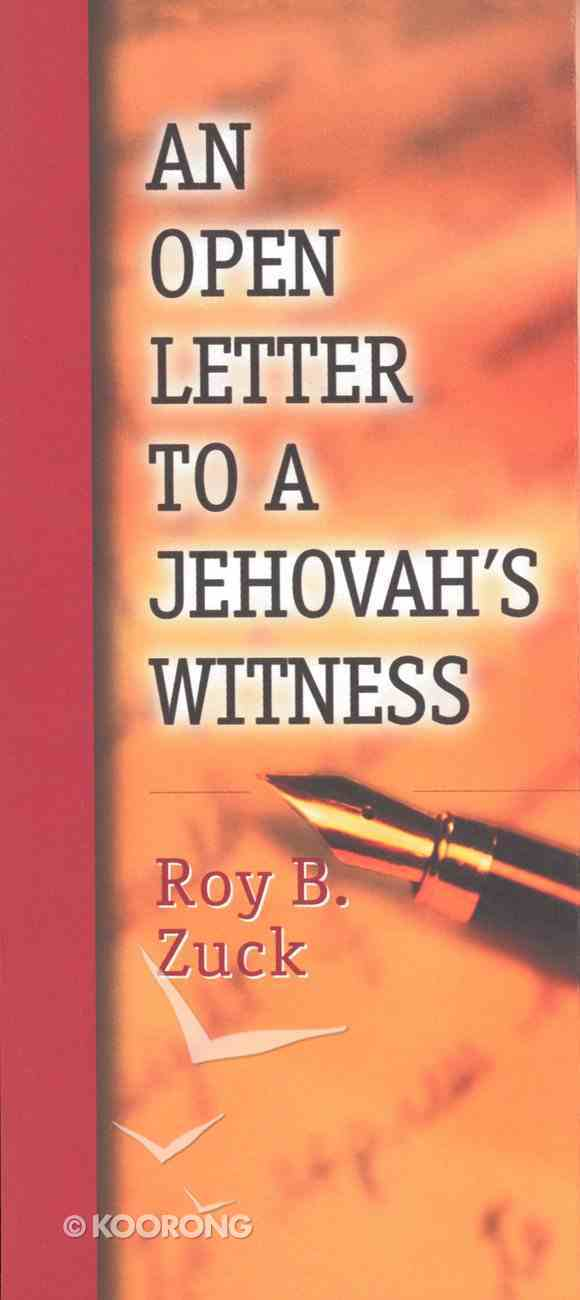 An Open Letter to a Jehovah's Witness (Pack 10) eBook