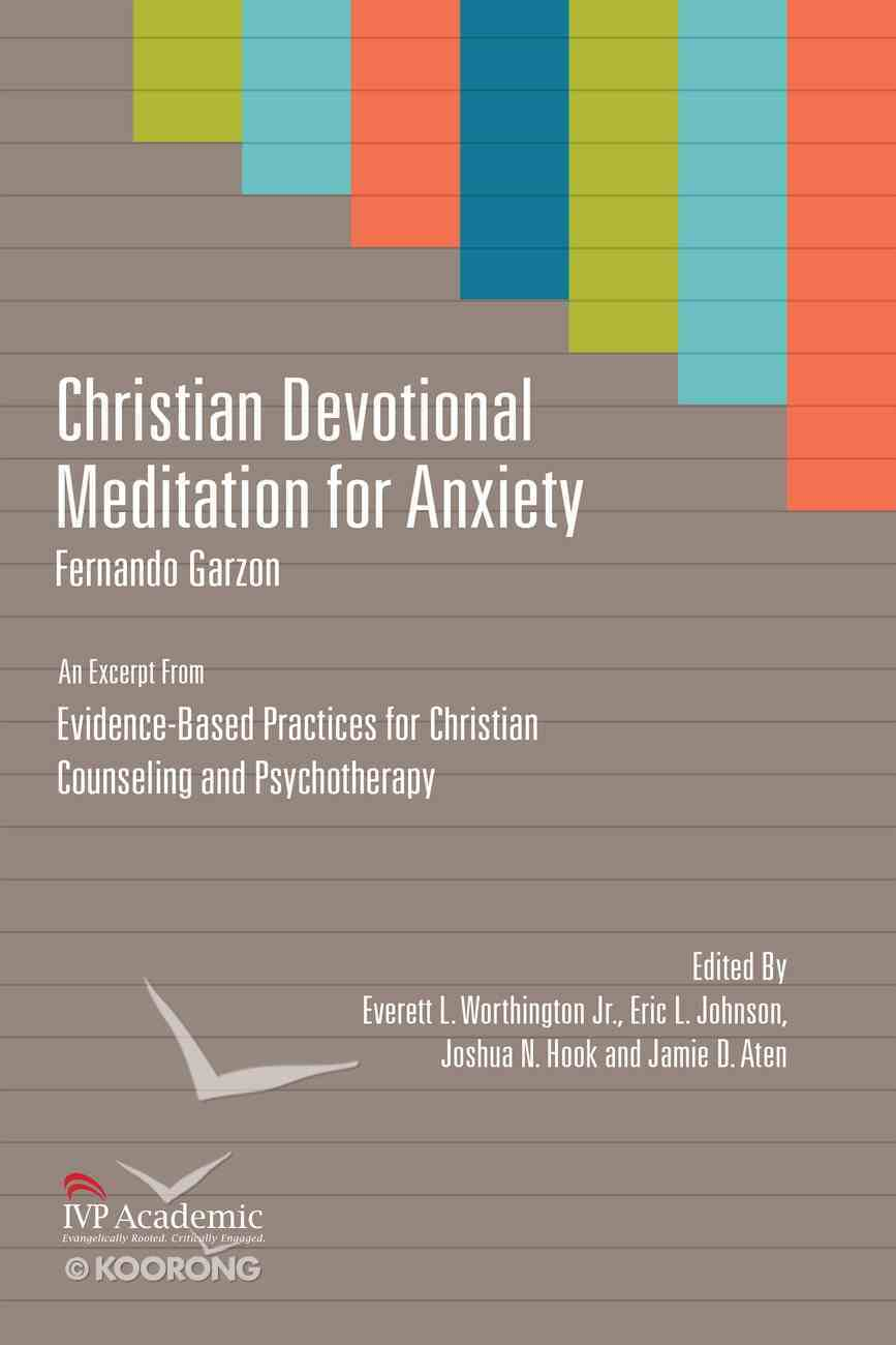 Christian Devotional Meditation For Anxiety eBook
