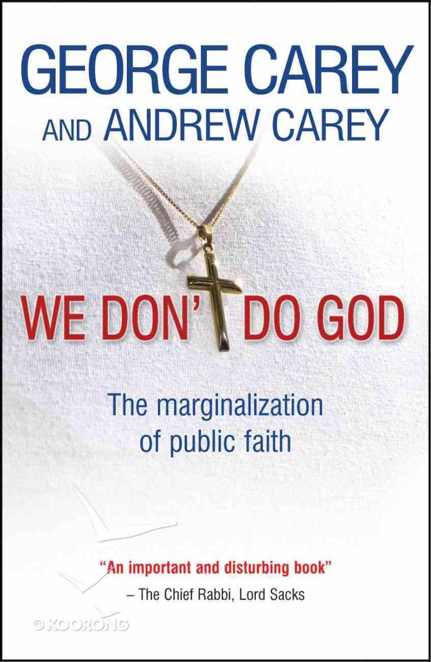 We Don't Do God Paperback