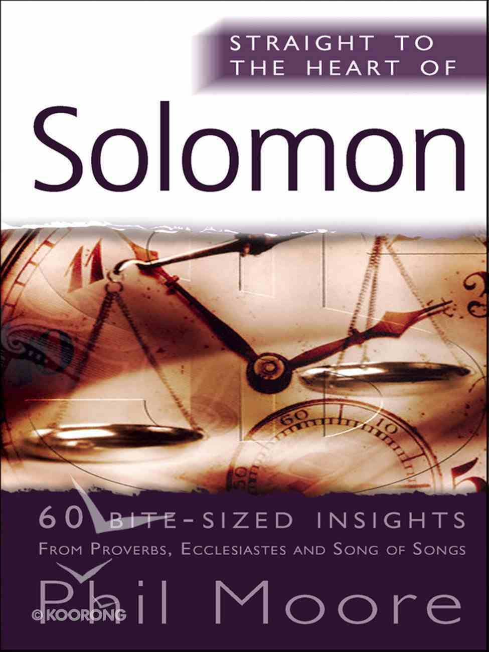 Solomon (Straight To The Heart Of Series) eBook
