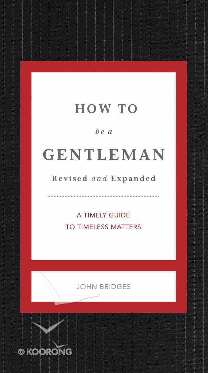 How to Be a Gentleman eBook