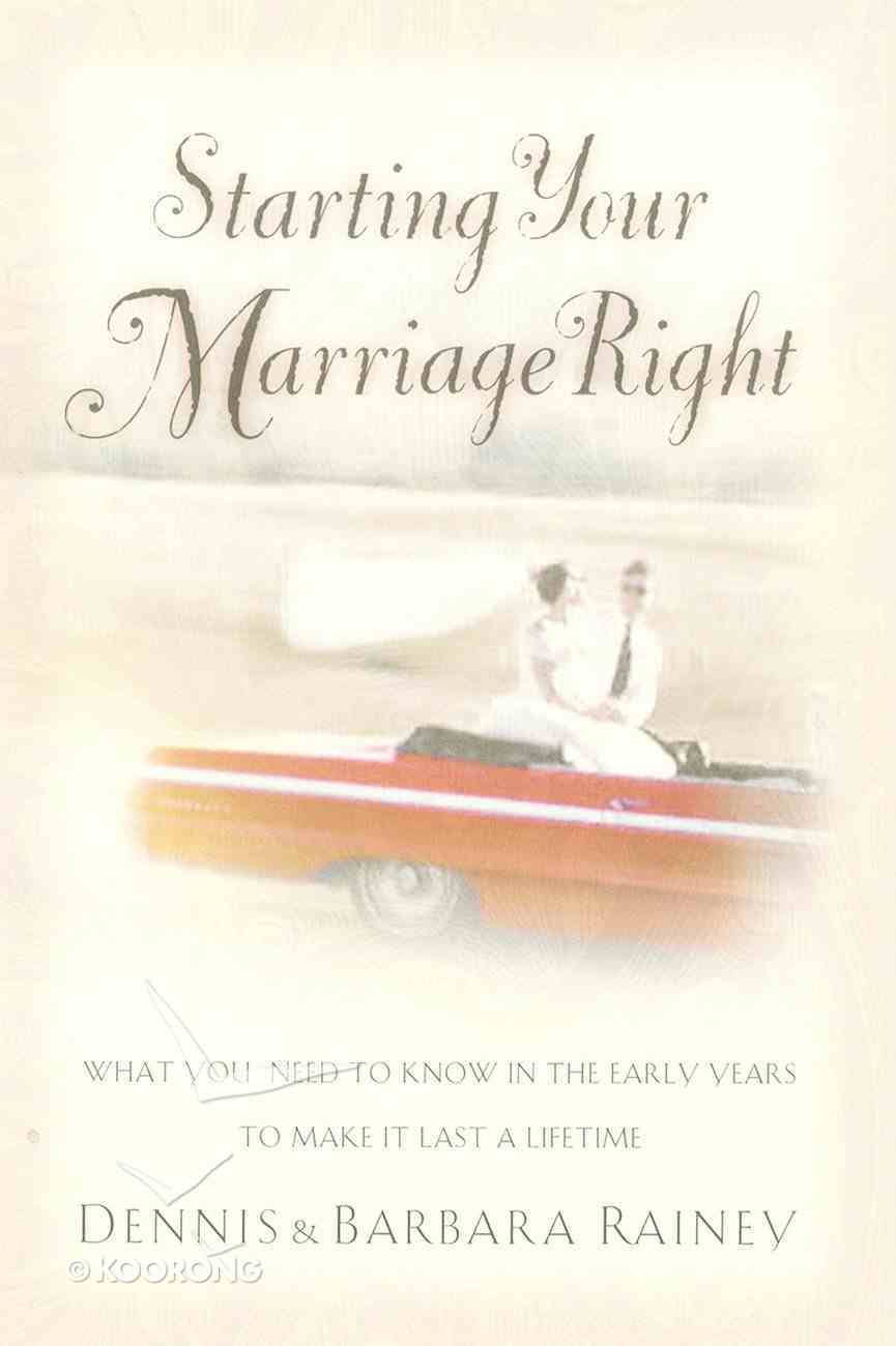 Starting Your Marriage Right eBook