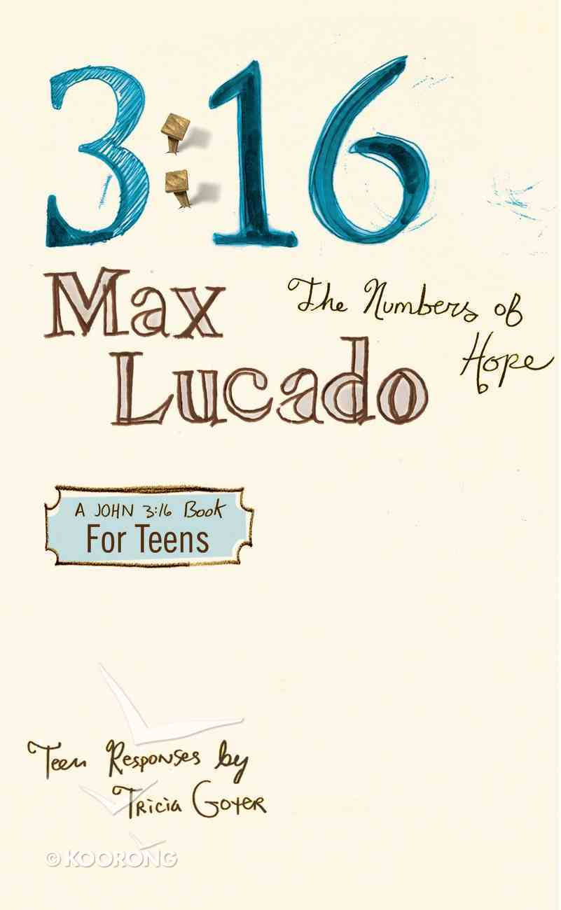 3: 16 - the Numbers of Hope (Teen Edition) eBook