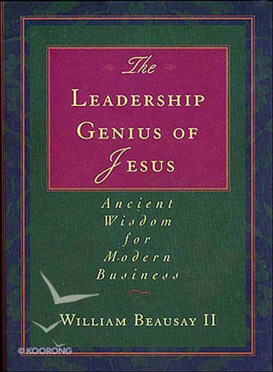 The Leadership Genius of Jesus eBook