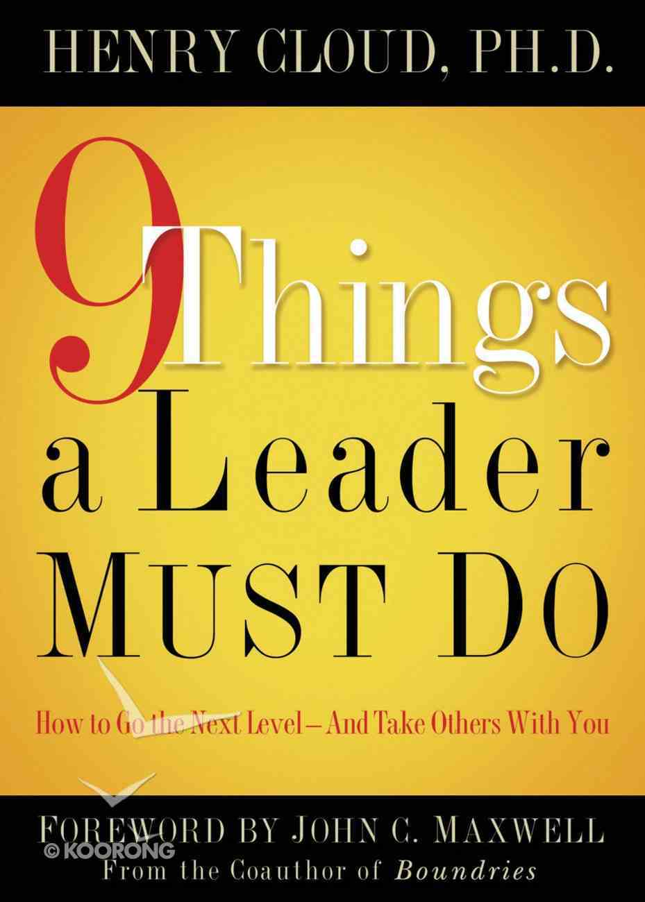 9 Things a Leader Must Do eBook