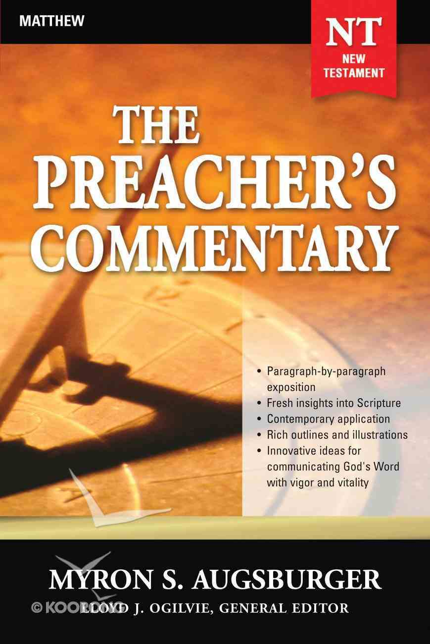 Matthew (#24 in Preacher's Commentary Series) eBook