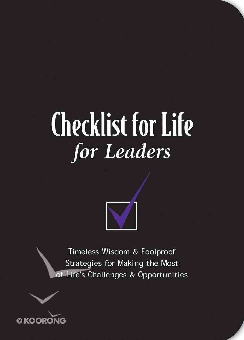 For Leaders (Checklist For Life Series) eBook