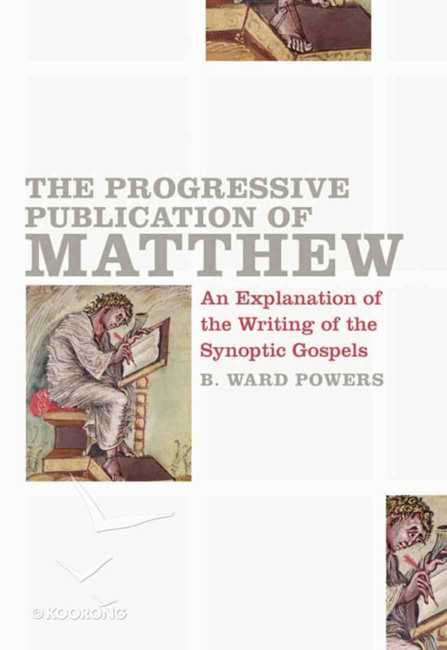 The Progressive Publication of Matthew eBook