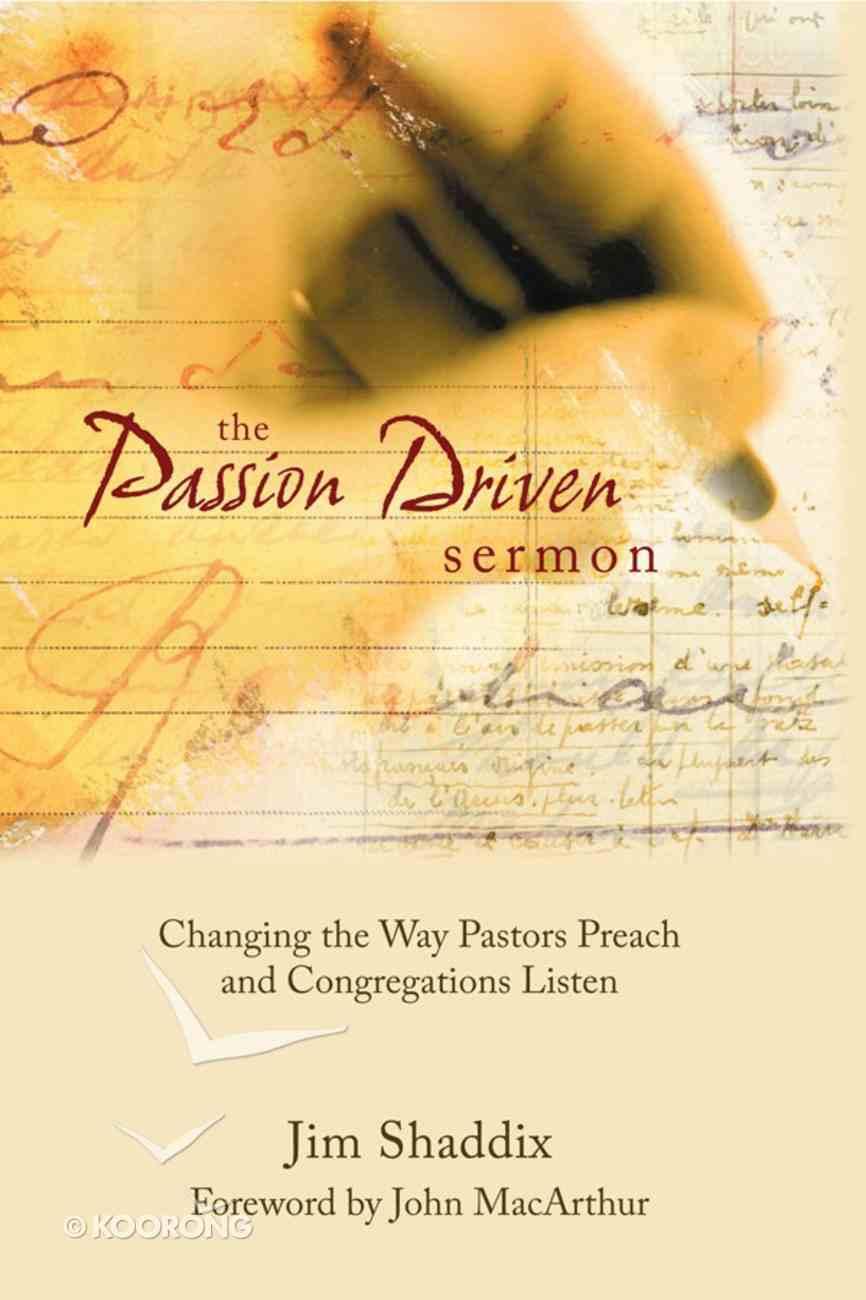 The Passion Driven Sermon eBook