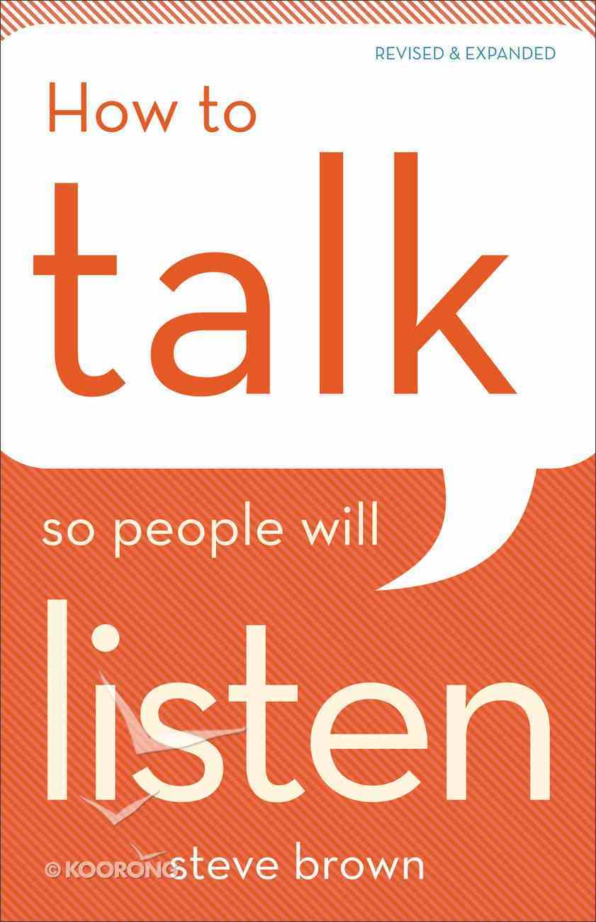 How to Talk So People Will Listen eBook