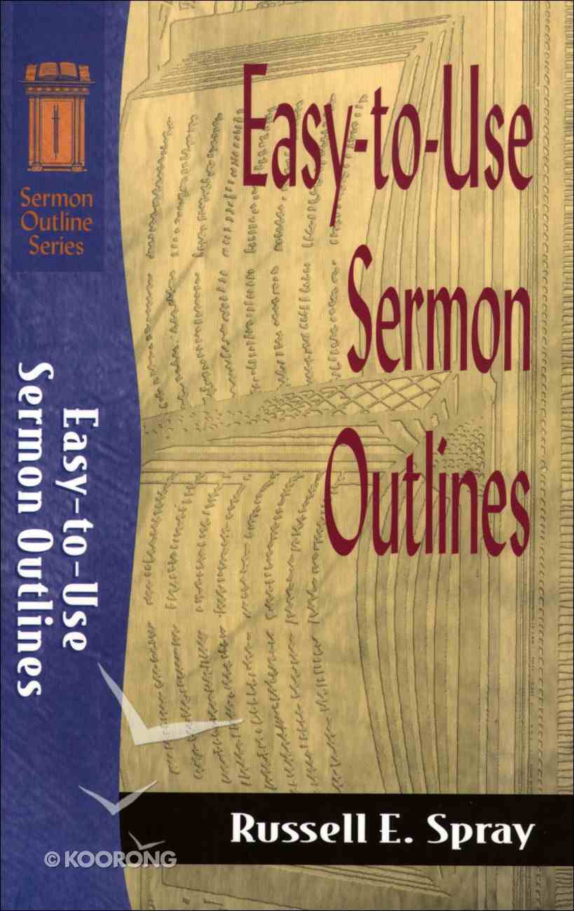 Sos: Easy to Use Sermon Outlines (Sermon Outline Series) eBook