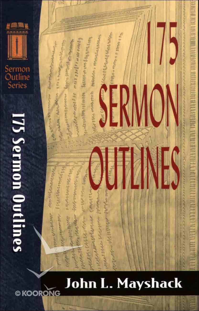 Sos: 175 Sermon Outlines (Sermon Outline Series) eBook