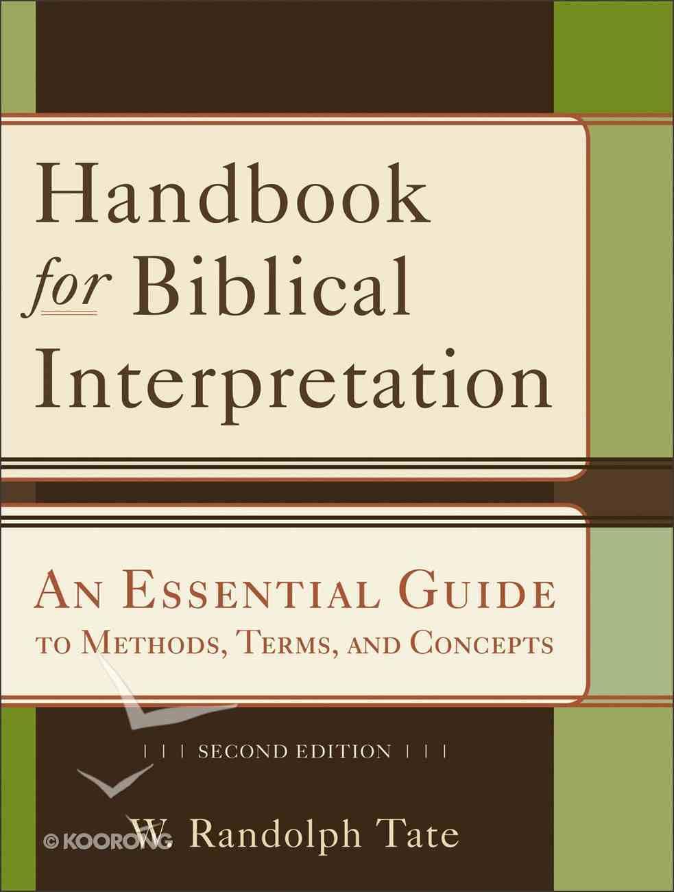 Handbook For Biblical Interpretation (Second Edition) eBook