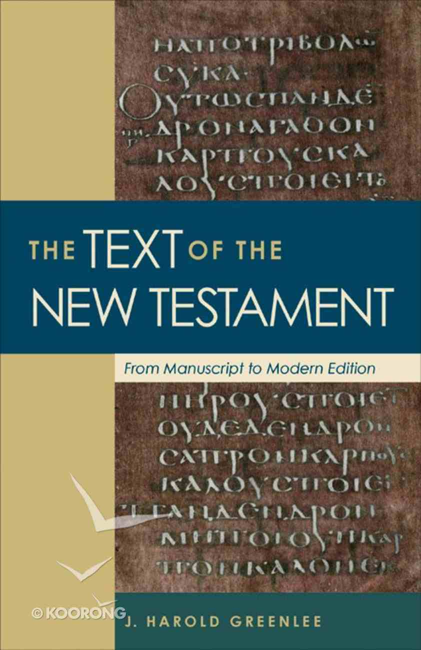 The Text of the New Testament eBook