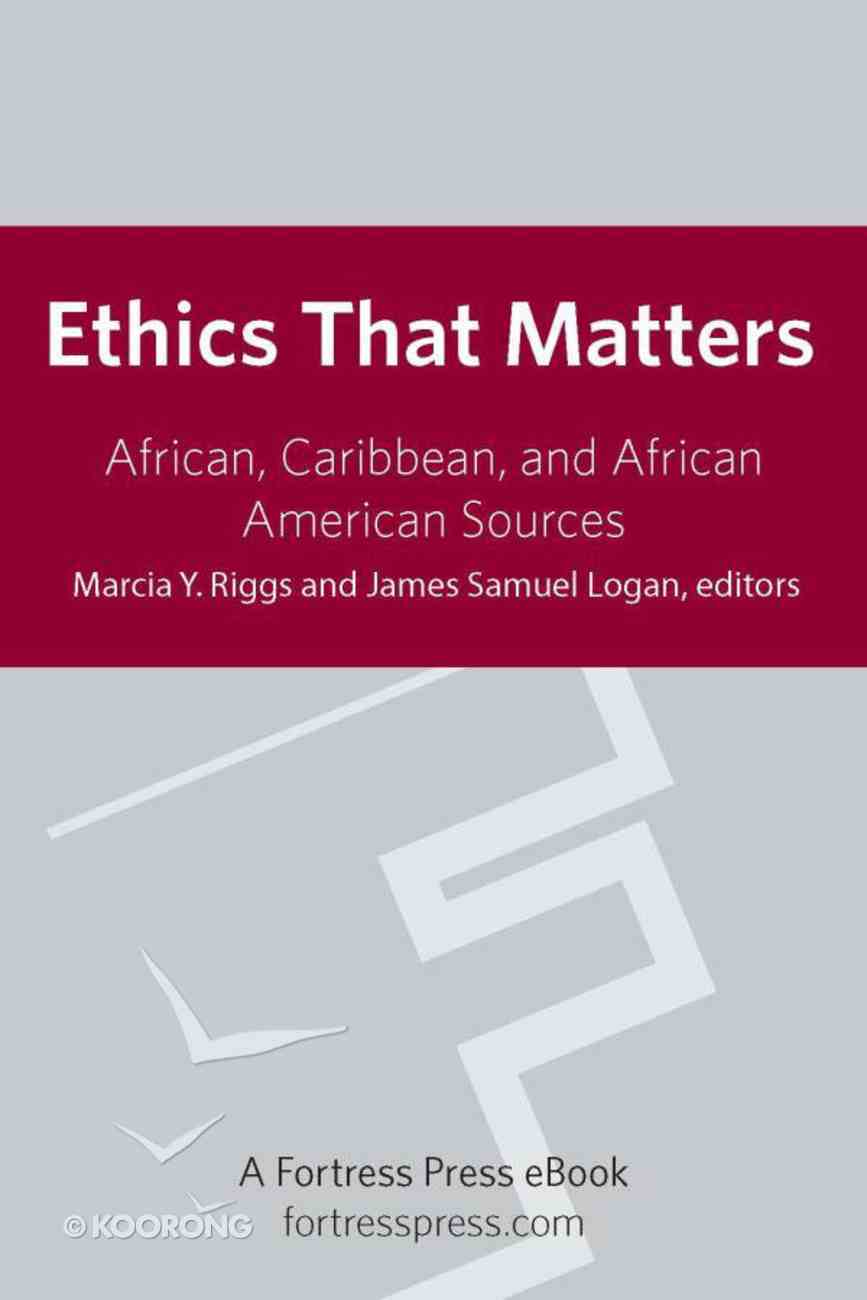 Ethics That Matter eBook