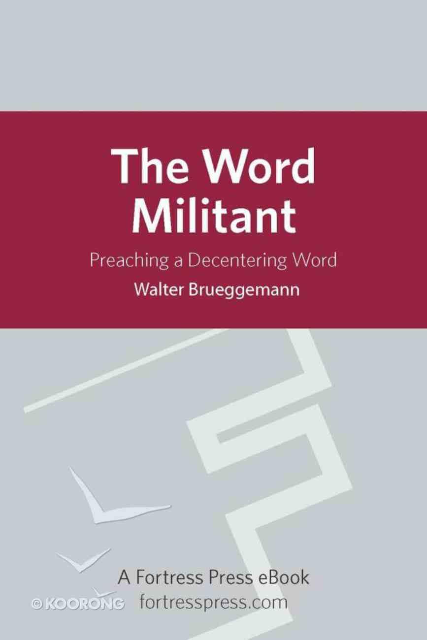 The Word Militant eBook