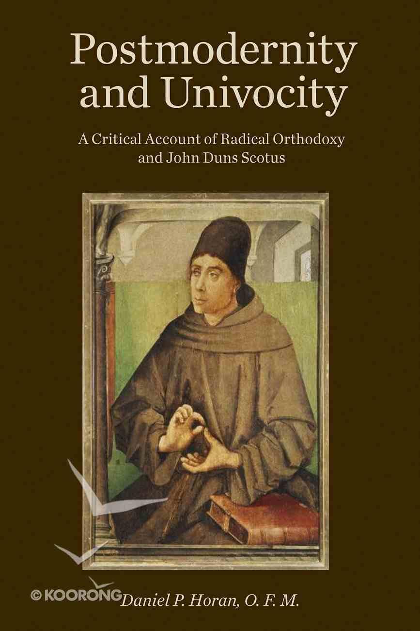 Postmodernity and Univocity eBook