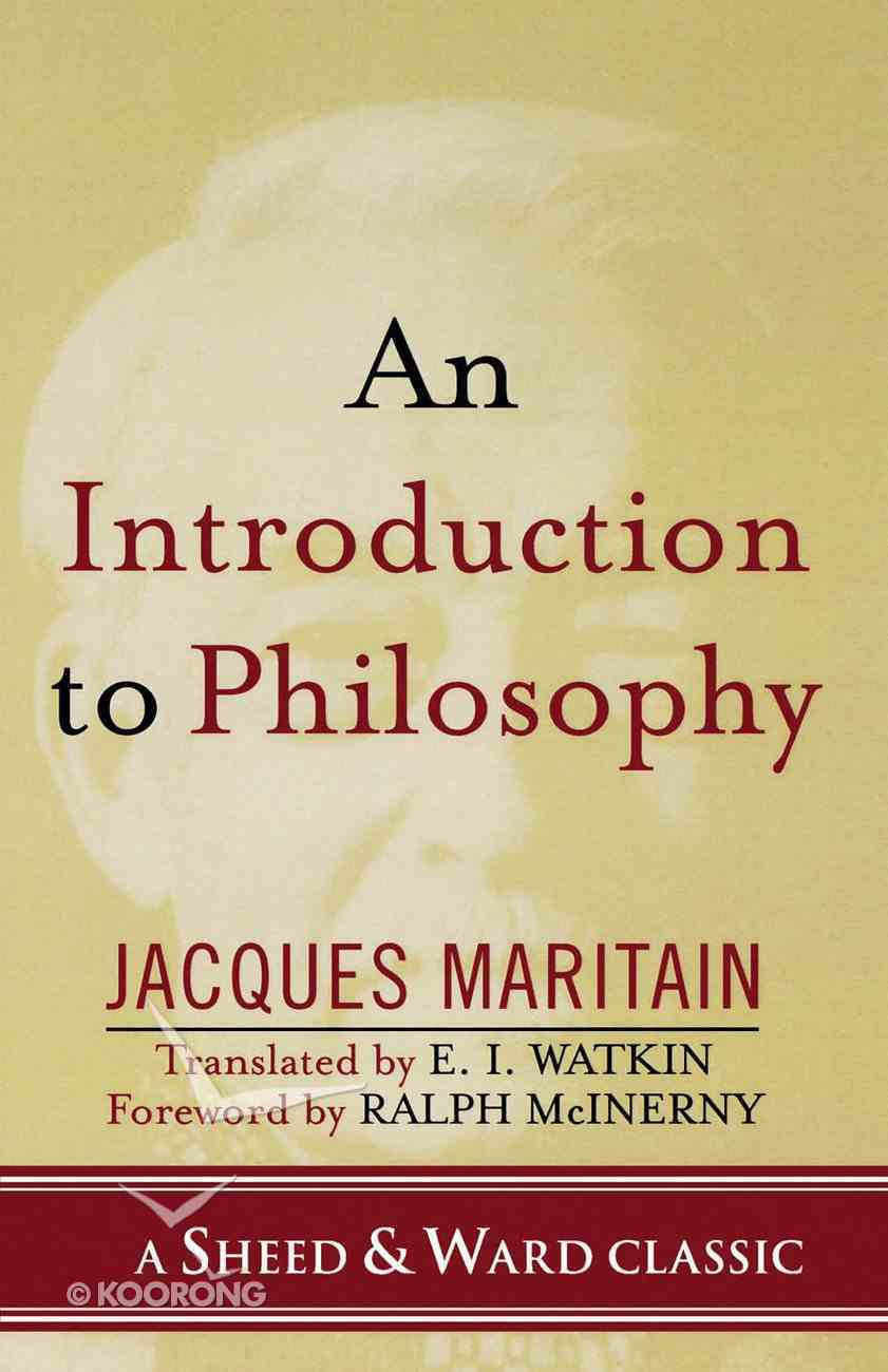 An Introduction to Philosophy eBook
