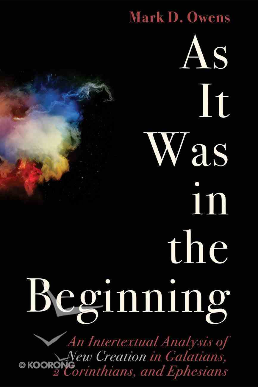 As It Was in the Beginning eBook