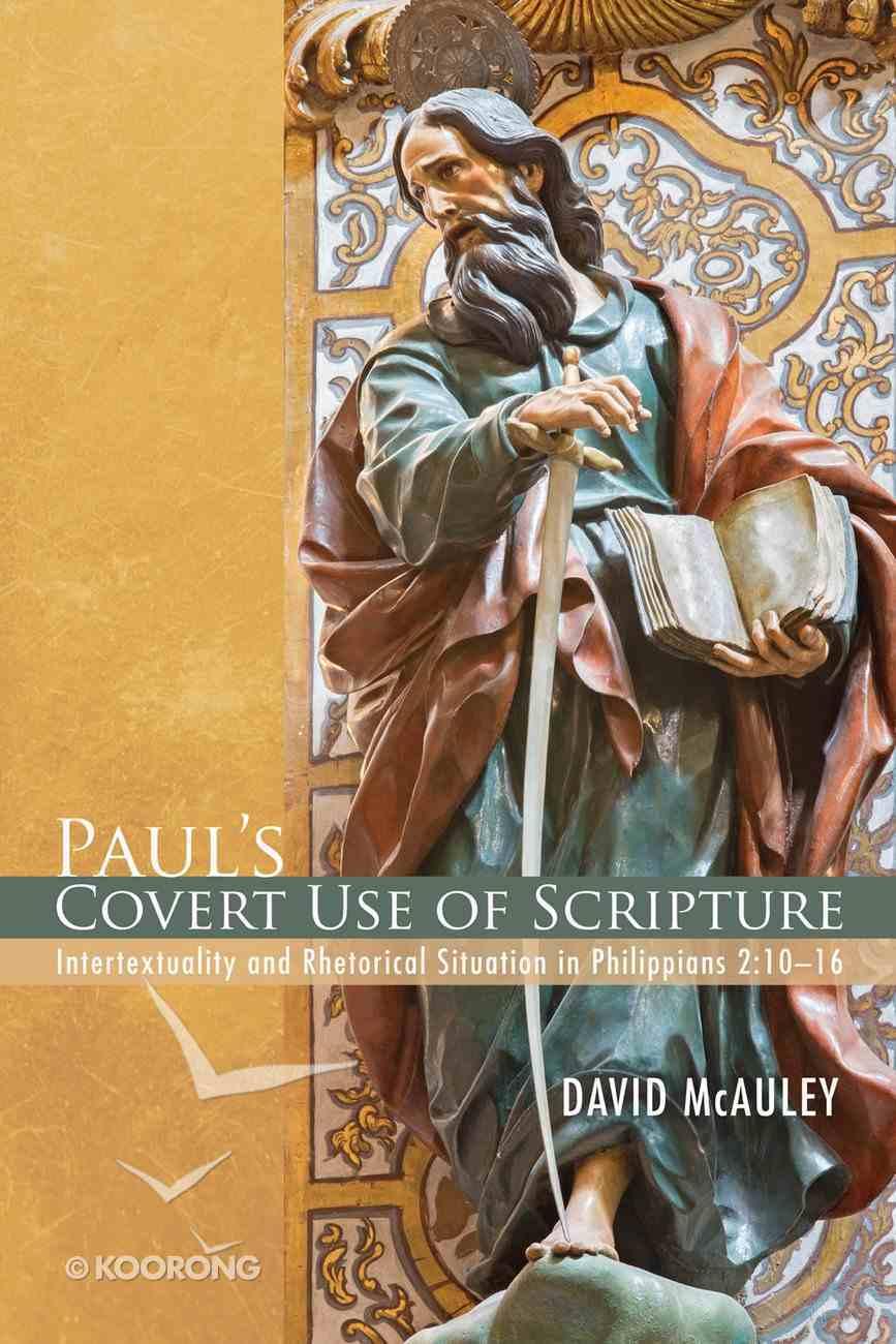 Paul's Covert Use of Scripture eBook
