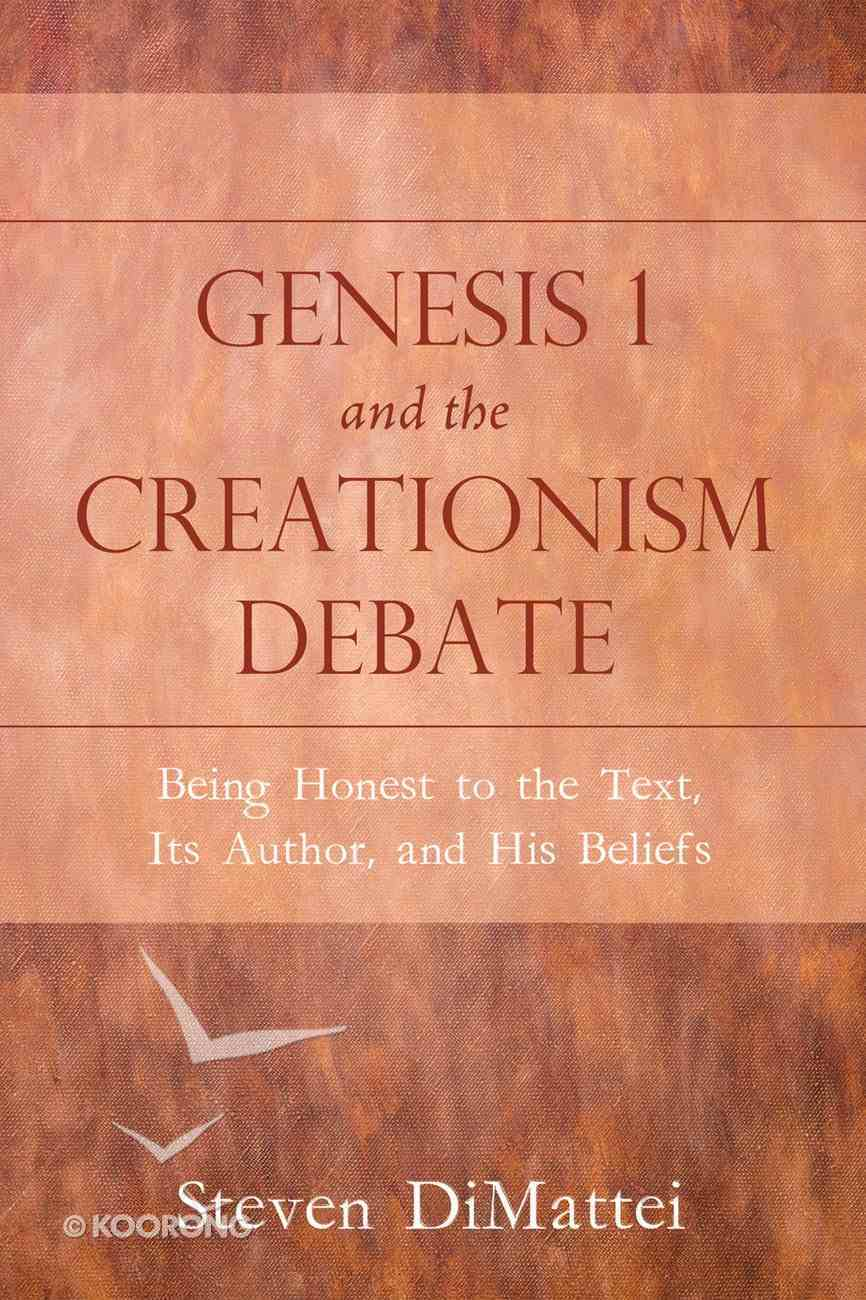 Genesis 1 and the Creationism Debate eBook