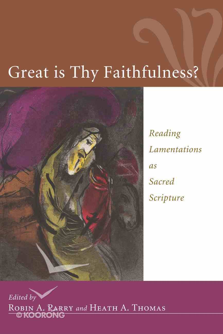 Great is Thy Faithfulness? eBook