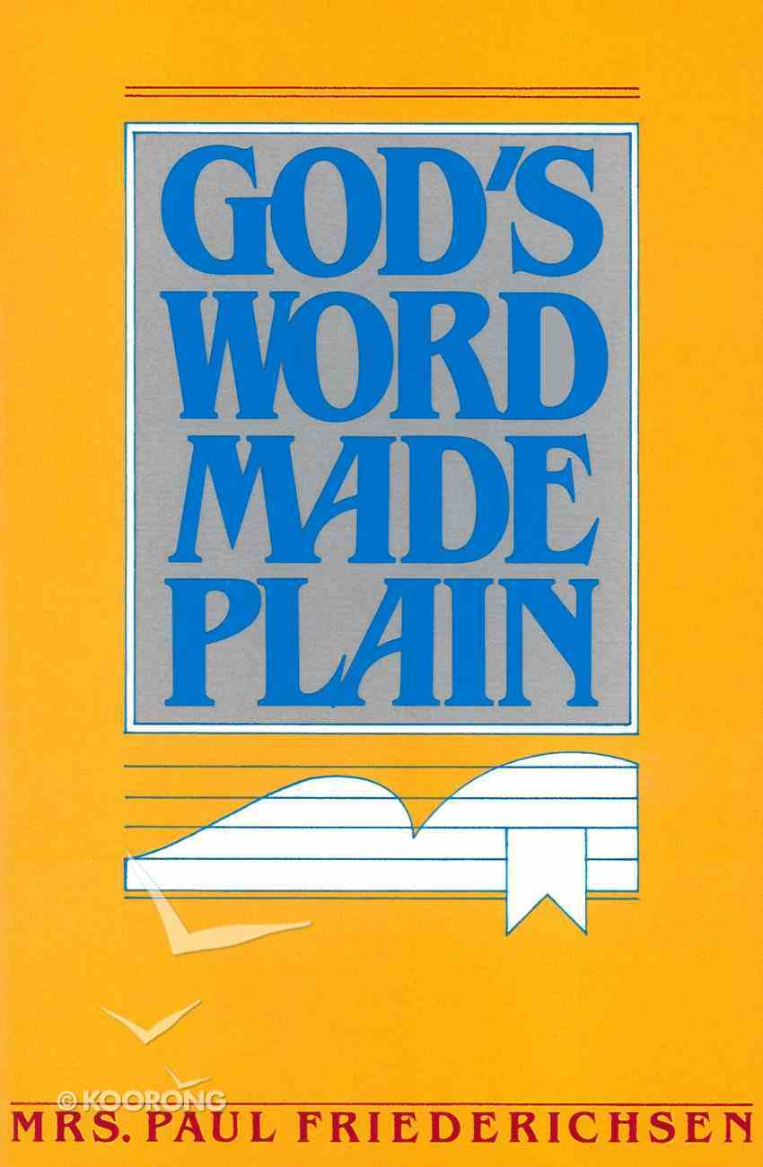 God's Word Made Plain eBook