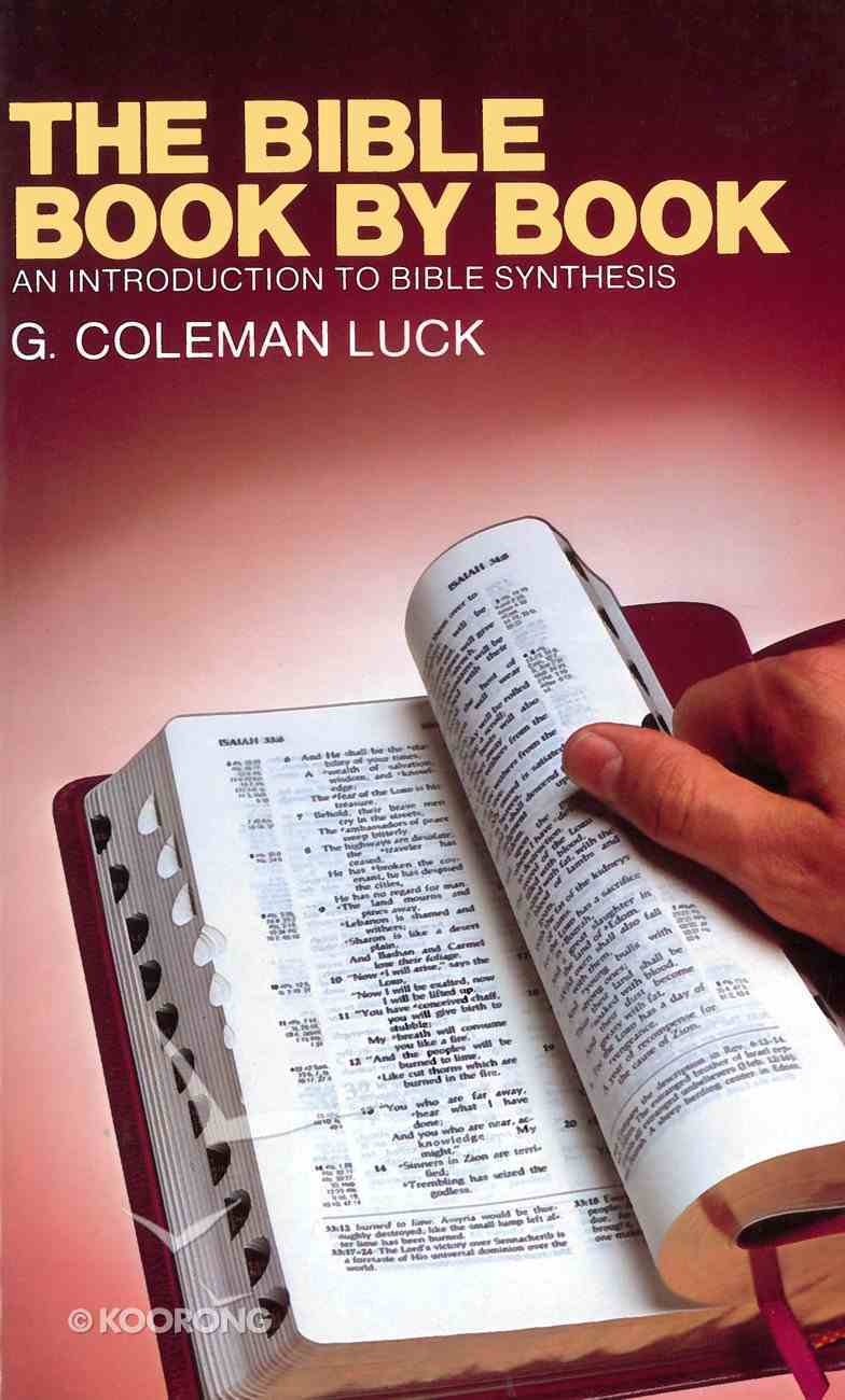 The Bible Book By Book eBook
