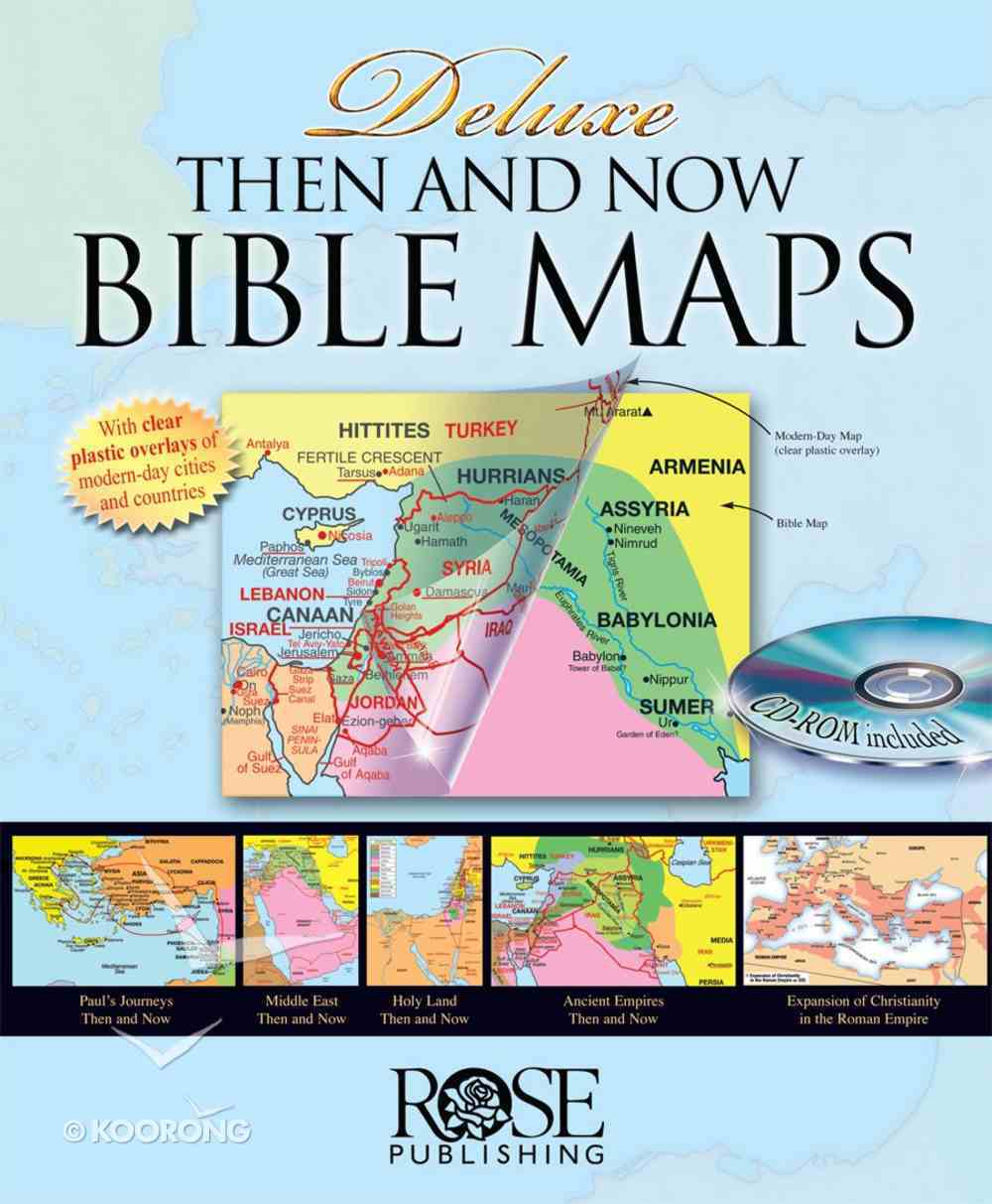 Rose Deluxe Then and Now Bible Maps With CDROM eBook