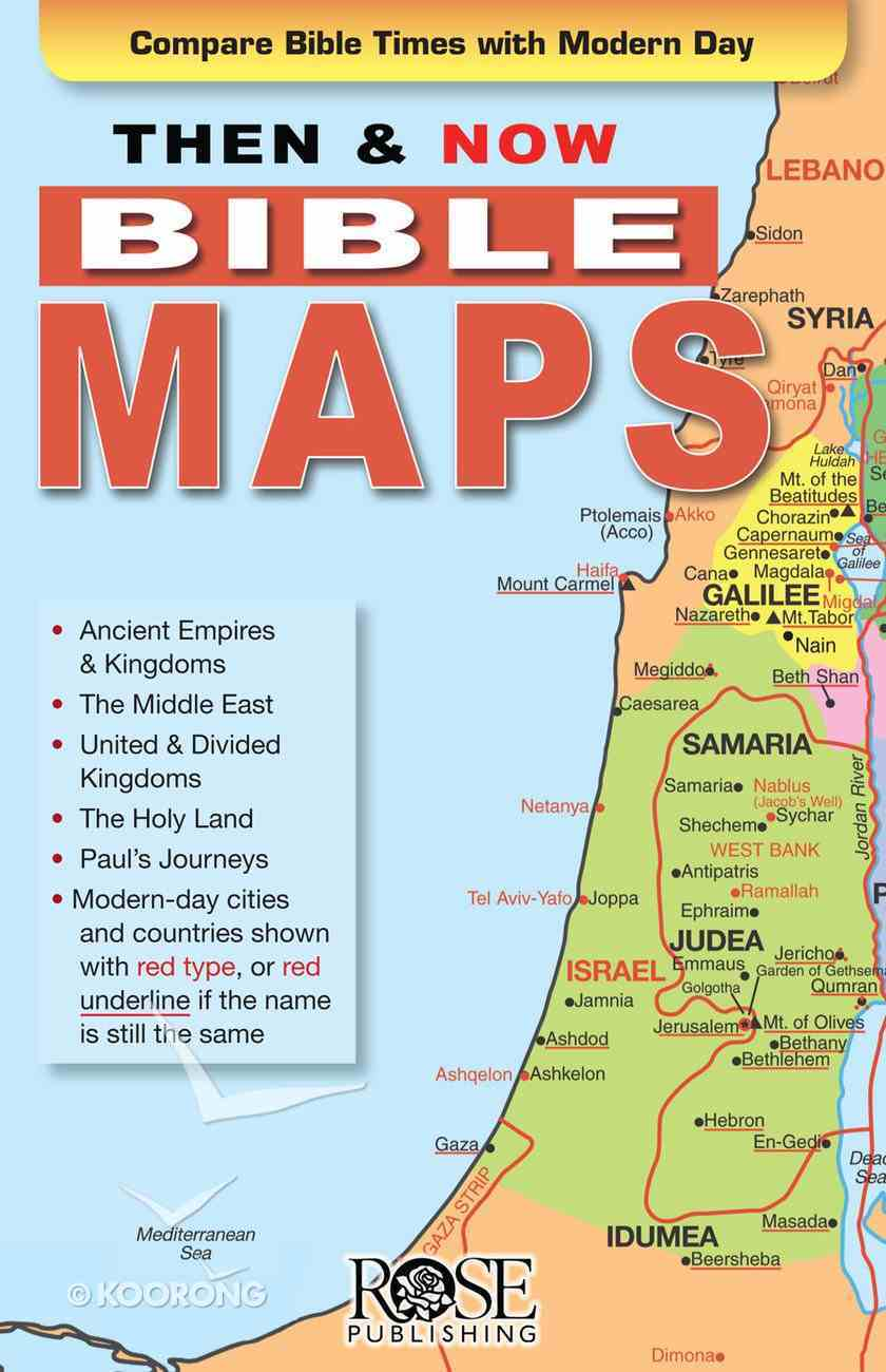 Picture of: Bible Maps Then And Now Series By Rose Publishing Koorong