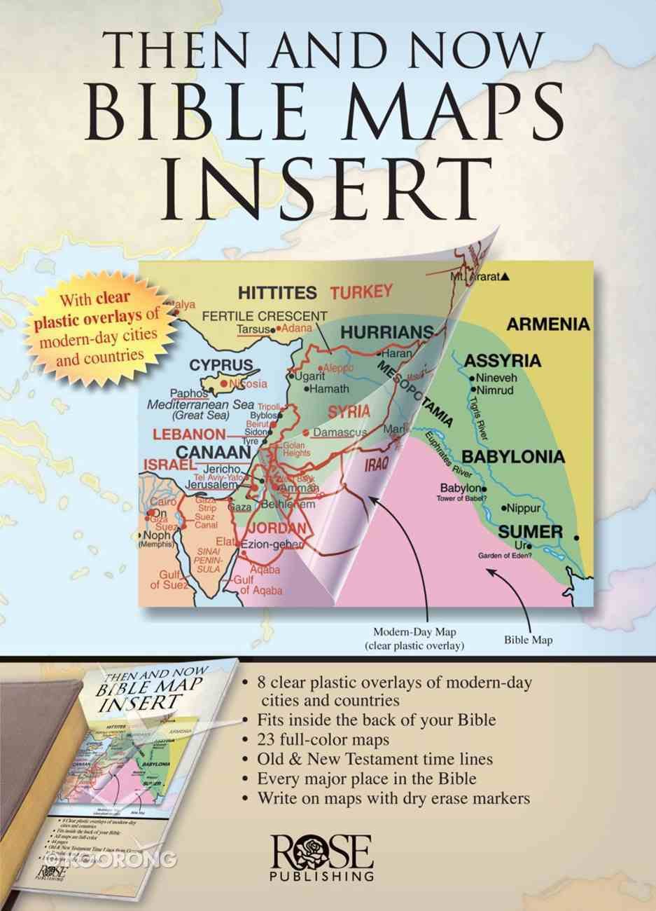 Then and Now Bible Maps Insert eBook