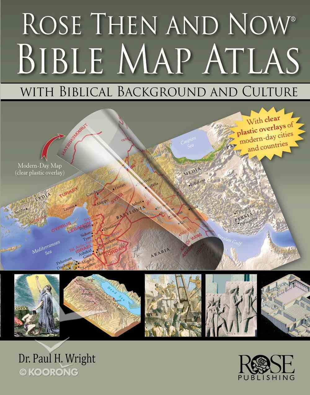 Bible Map Atlas With Biblical Backgrounds (Then And Now Series) eBook
