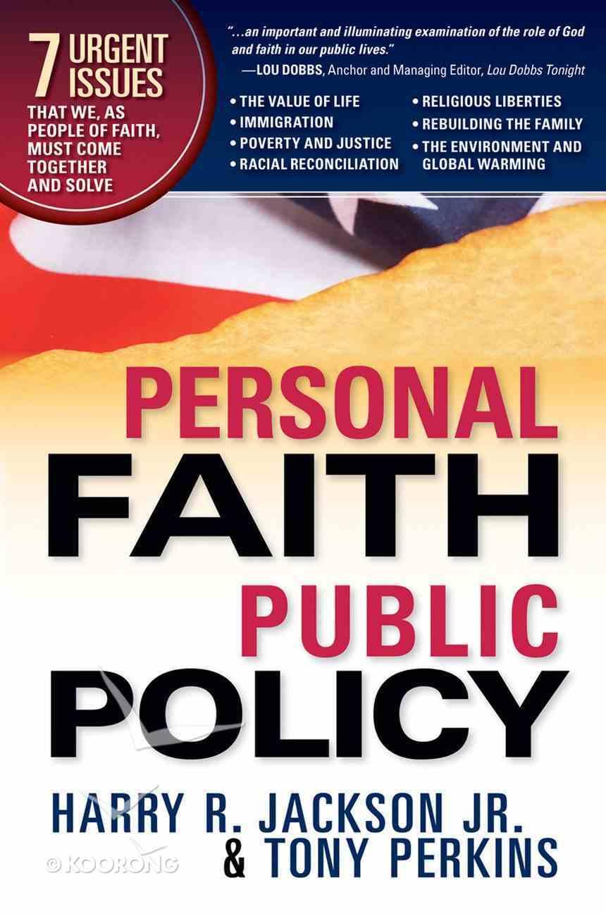 Personal Faith, Public Policy eBook