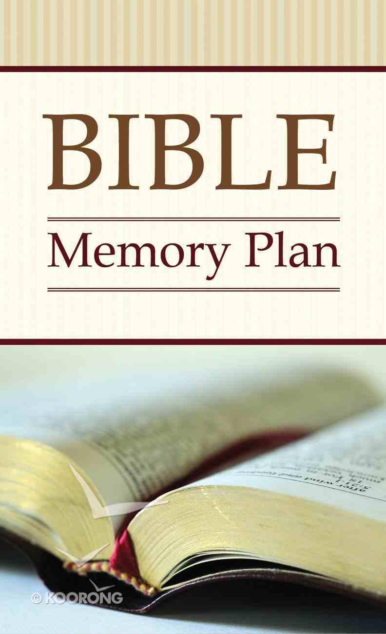 Bible Memory Plan (Kjv; Niv; Nlt) eBook