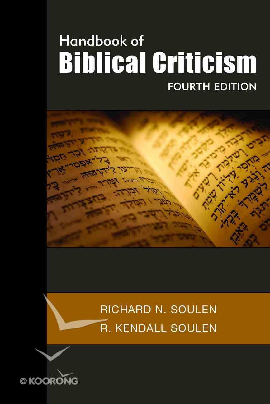 Handbook of Biblical Criticism (4th Edition) eBook