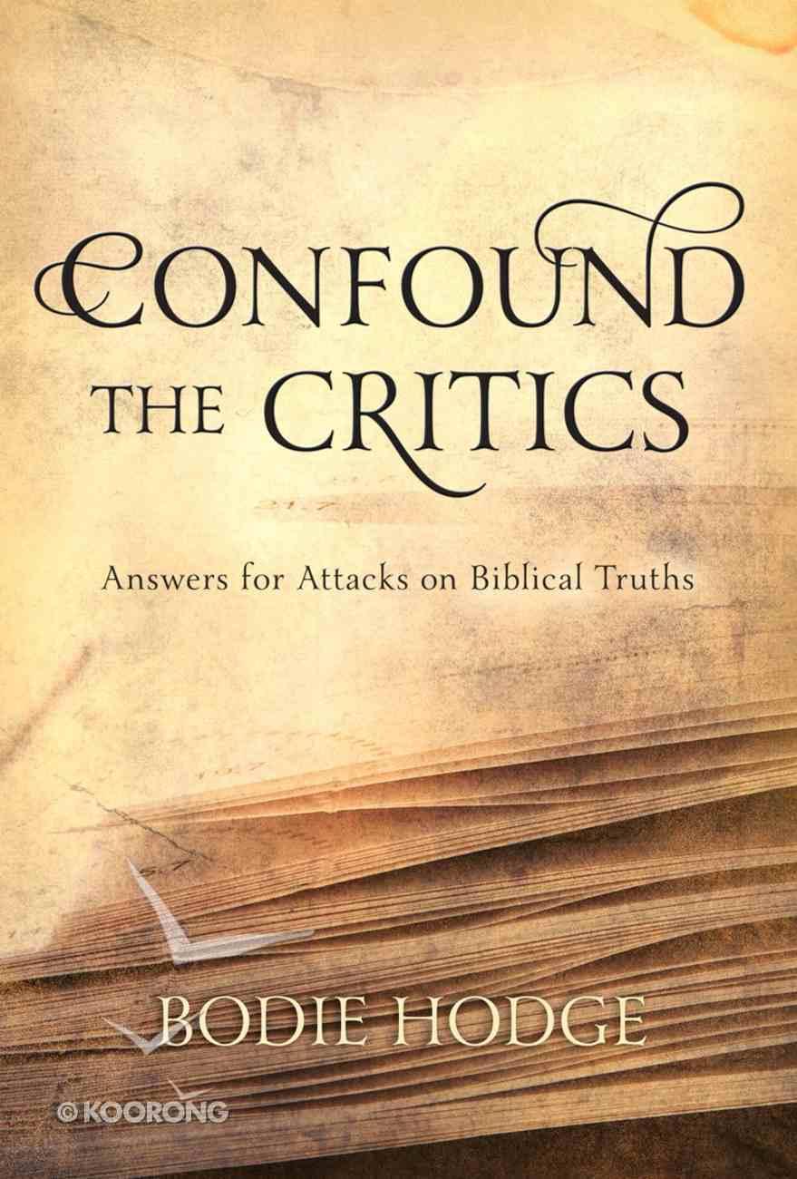 Confound the Critics eBook