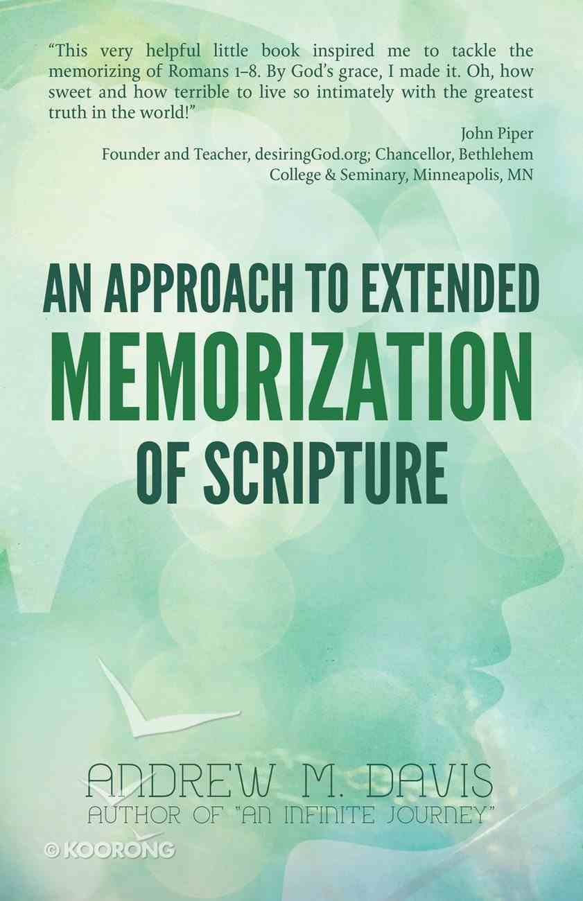 An Approach to Extended Memorization of Scripture eBook