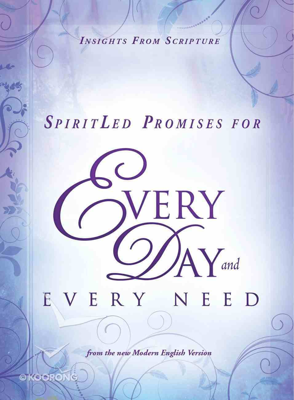 Spiritled Promises For Every Day and Every Need eBook