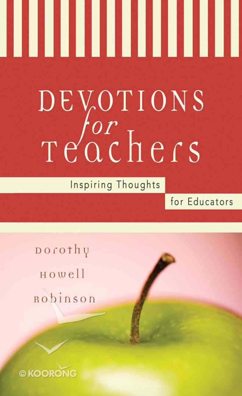 Devotions For Teachers eBook