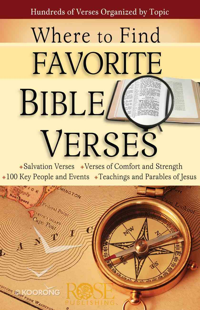 Where to Find Favorite Bible Verses (Rose Guide Series) eBook