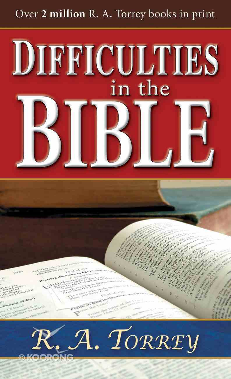 Difficulties in the Bible eBook