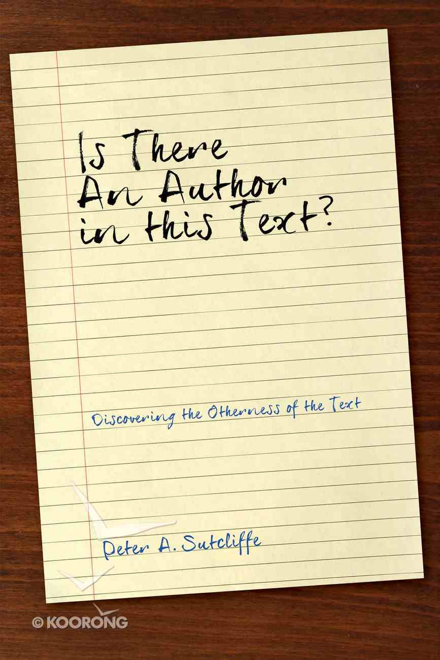 Is There An Author in This Text? eBook