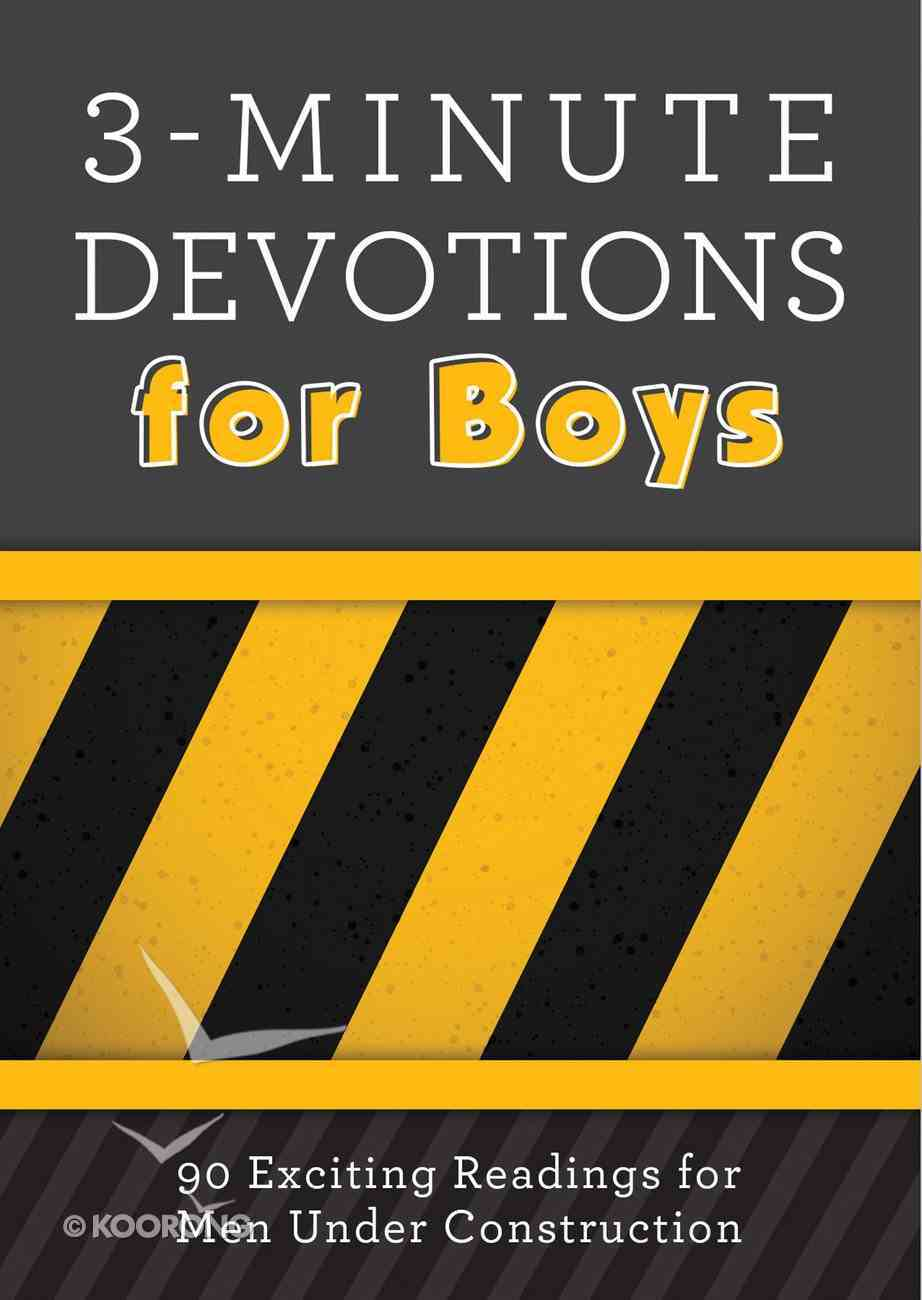 3-Minute Devotions For Boys eBook
