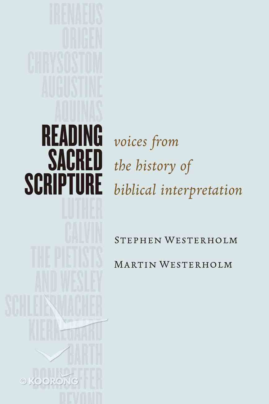 Reading Sacred Scripture Paperback